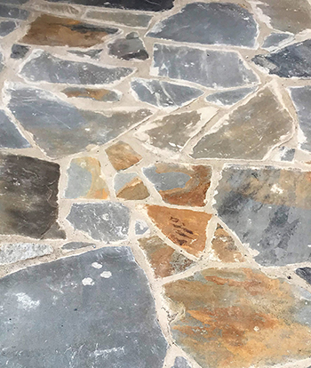 grey brown mixed flagstone