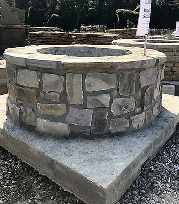 lake martin stone round firepit