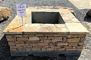 lake martin stone square firepit