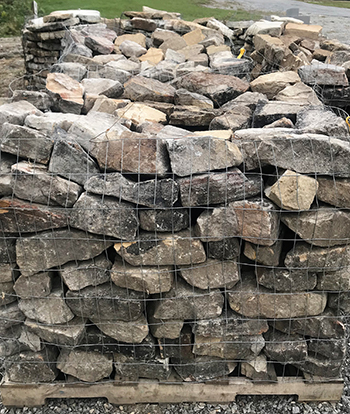 moss rock stack