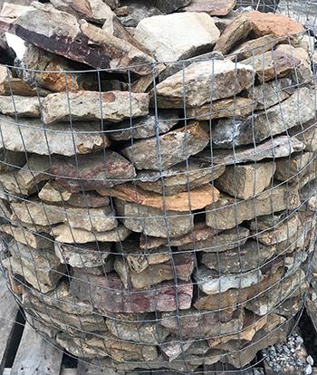 thin stack moss fieldstone